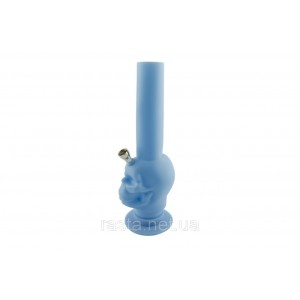 Бонг  Череп синий  27 см.