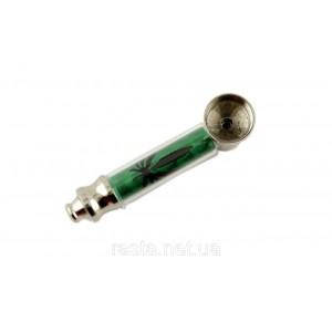 Трубка  Зеленая. 7,5 см.