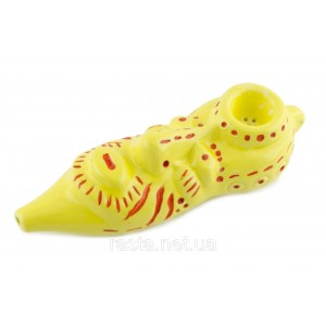 Трубка  Маска. 16,5 см. Желтая
