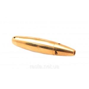 Трубка  Сифон  золотая. 8 см.