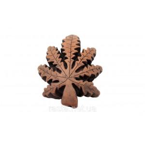 Трубка  Конопляный лист. 7,5 см.