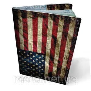 Кожаная обложка для паспорта  Америка