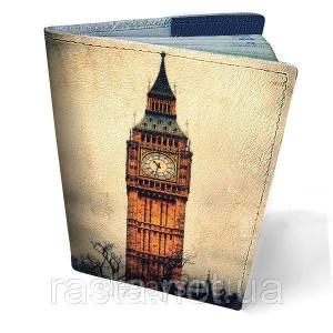 Кожаная обложка для паспорта  Биг Бен