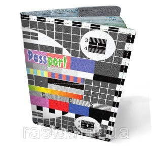 Кожаная обложка для паспорта  ТВ Заставка