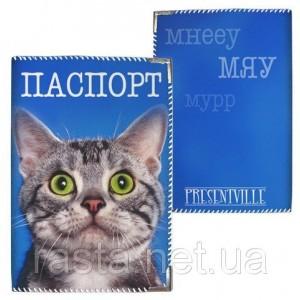 Тканевая обложка на паспорт  Котик