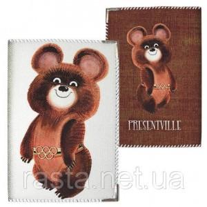 Тканевая обложка на паспорт  Мишка