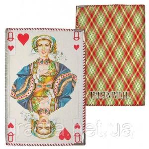 Тканевая обложка на паспорт  Дама