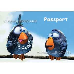 Обложка на паспорт  Птички