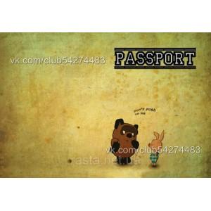 Обложка на паспорт  Винни пух и пяточок