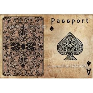 Обложка на паспорт  Туз